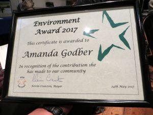 Stroud Environmental award Down to Earth 2017